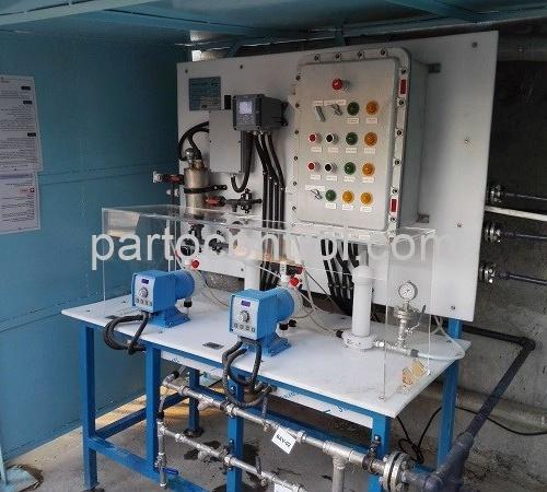 دستگاه آب شیرین کن پالایشگاه تهران Reverse Osmosis Tehran Refinery 1 500x450 - پروژه پکیج تزریق مواد شمیایی