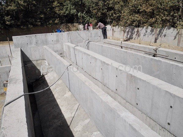 نصب تصفیه خانه بتنی فاضلاب کاله Kaleh concrete wastewater treatment plant - پروژه تصفیه خانه بتنی فاضلاب