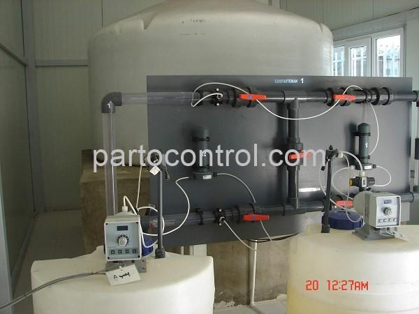 پکیج تزریق مواد شمیایی آبرسانی جنوب تهران Chemical Injection Package - پروژه پکیج تزریق مواد شمیایی