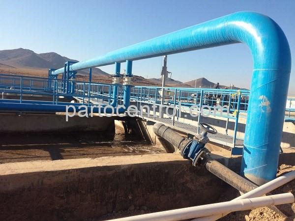 Concrete wastewater treatment plant in Caspian Townتصفیه خانه بتنی فاضلاب شهرک کاسپین5 - پروژه تصفیه خانه بتنی فاضلاب