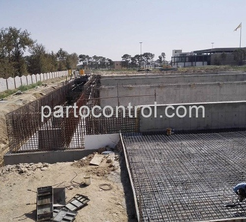 Kaleh concrete wastewater treatment plantتصفیه خانه بنی فاضلاب کاله6 500x450 - پروژه تصفیه خانه بتنی فاضلاب
