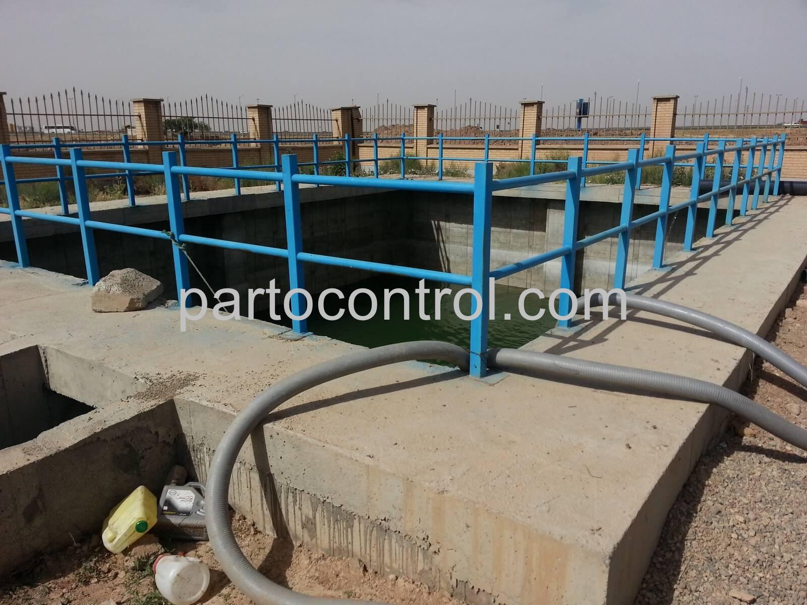 Concrete tanks in Caspian Townمخازن بتنی شهرک کاسپین 1 - پروژه مخازن بتنی