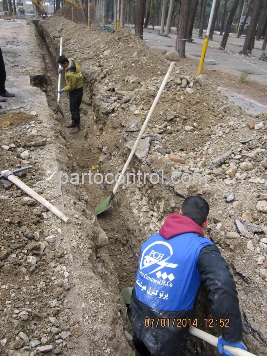 Eram Park Sewage Collection Networkشبکه جمع اوری فاضلاب باغ وحش پارک ارم2 - پروژه شبکه جمع آوری فاضلاب