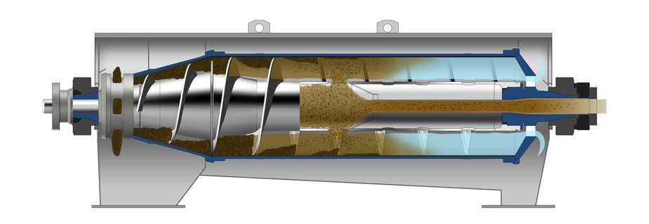 centrifuge decanter - سانتريفيوژ دكانتر